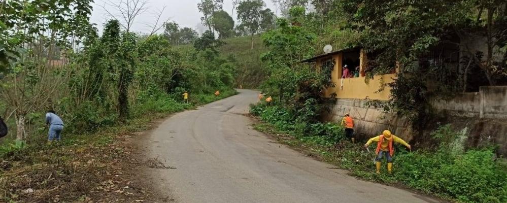 MINGA DE LIMPIEZA DE VÍA TORATA - GUAYABO